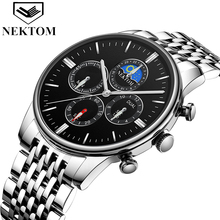 NEKTOM  Mens Watches Top Luxury Brand Men Gold Watch Male Relogio Masculino Military Army Analog Quartz Wristwatch Montre Homm