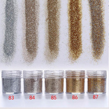 1 Jar/Box 10ml 3D Nail Art 5 Mix Champagne Series Glitter Powder Sequins For Dust Decoration #83-87