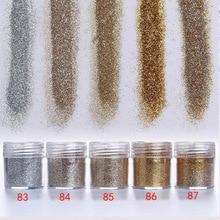 1 Jar/Box 10ml 3D Nail Art 5 Mix Champagne Series Glitter Powder Sequins For Dust Decoration #83-87