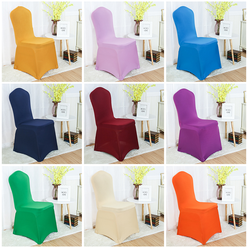 24 Colours Lycra chair cover spandex stretch banquet chair cover wedding hotel dinner decoration 220Grams Flat Front