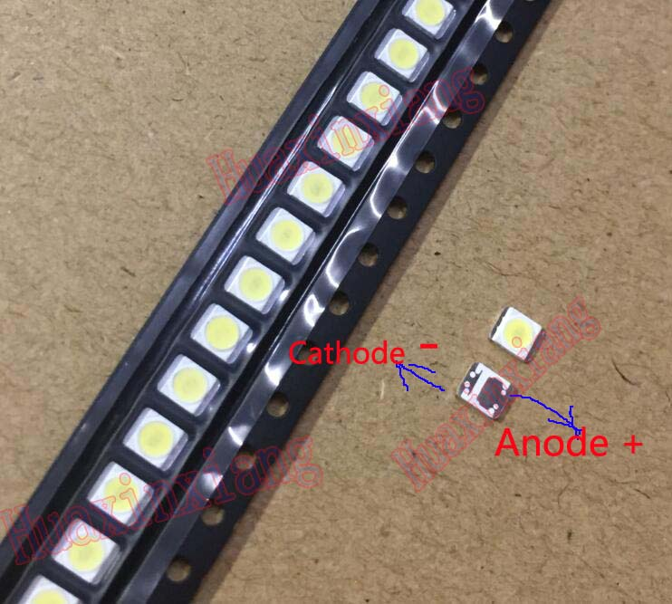 50PCS/Lot 1W 3528 2835 3V SMD LED Beads LG Innotek Cold White 100LM For TV/LCD Backlight Application 100pcs lot 3528 2835 3v smd led beads 1w cold white 100lm for tv lcd backlight