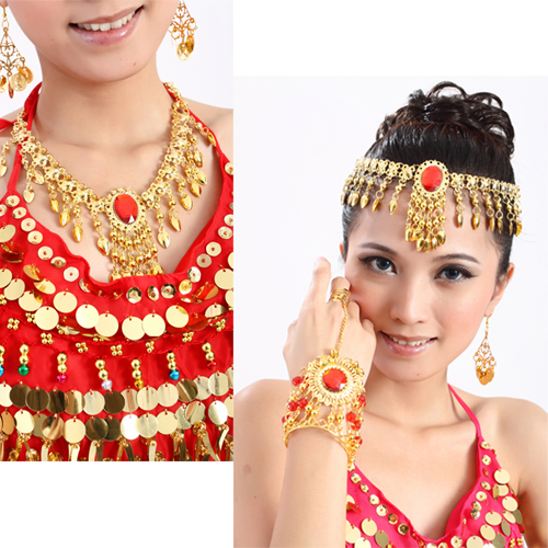 Belly Dance Skirt Dance Costumes Top Fashion Cotton Necklace Jewelry Accessories Chain 2 Indian Hair Accessory Collapsibility