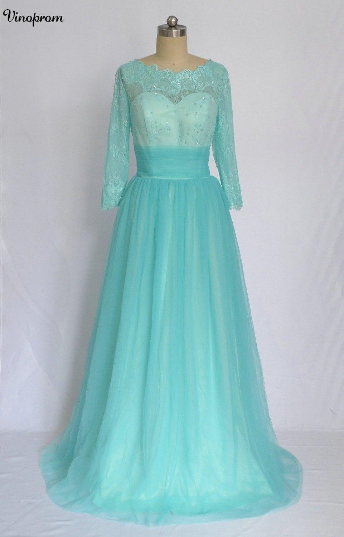Meilleure vente a-ligne Scoop Floor Turquoise en mousseline de soie Cap manches robes de bal plis perlés remise robes de bal soirée formelle
