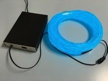 2.3mm livraison gratuite 100 m EL fil/fil incandescent/cool flexible néon câble avec AC onduleur/pilote rouge jaune vert bleu violet blanc