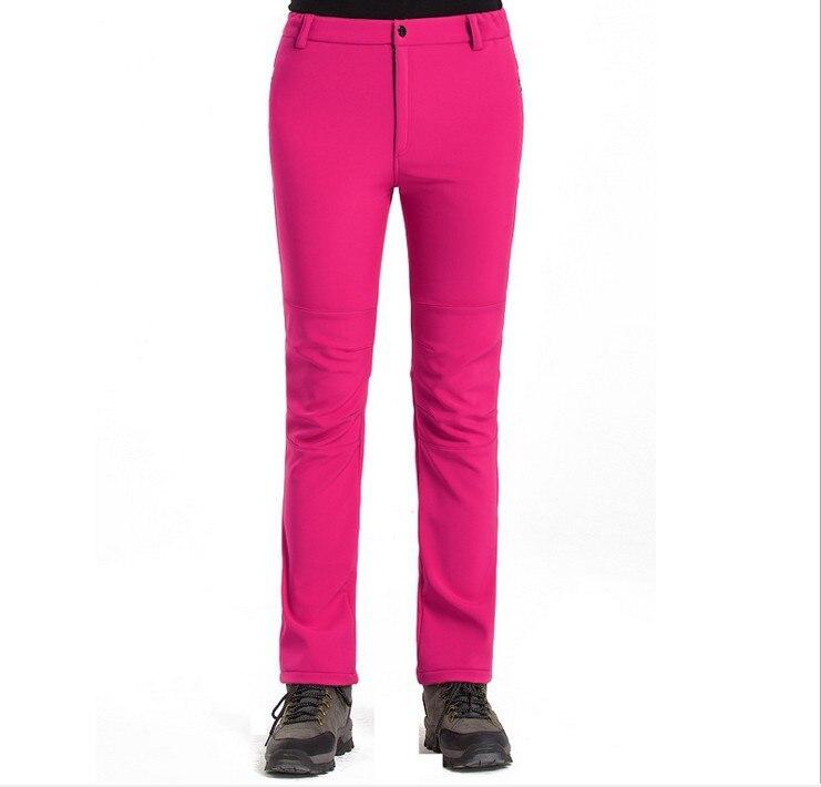 Outdoor fleece soft shell pants warm pants waterproof mountaineering trousers