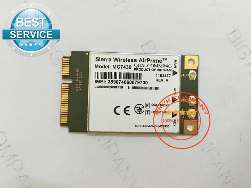 JINYUSHI For MC7430 new original FDD/TDD LTE 4G CAT6 HSPA+ GNSS WWAN Card USB 3.0 MBIM interface Gualcomm chipset for for APAC telit ln930 dw5810e m 2 twh3n ngff 4g lte dc hspa wwan wireless network card for venue 11