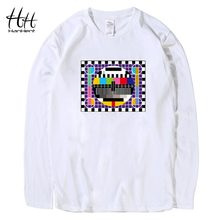 HanHent TV Test card T-shirts Men The Big Bang Theory Long Sleeve Cotton Tee shirts Fashion Autumn Funny T shirt For Men LT0259(China)