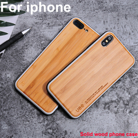 Luxury Bamboo wood Cases For iPhone 7 8 plus X XS XR XS MAX Case Walnut wood coque For iPhone 7plus 8plus Cover iPhoneXS MAX