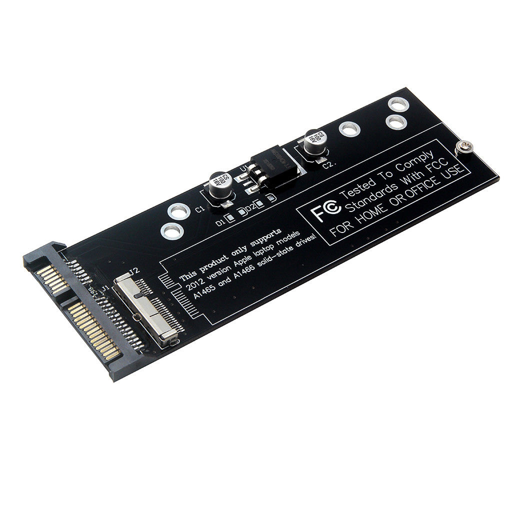 HOT-For Macbook Air A1466 A1465 A1398 A1425 Ssd To Sata Adapter Card Slot