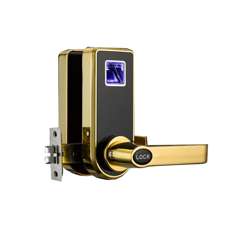 Free Shipping Biometric Electric Door Lock Digital Smart Fingerprint, 2 Keys, Electronic Intelligent Lock Smart Entry Deadbolt digital electric best rfid hotel electronic door lock for flat apartment
