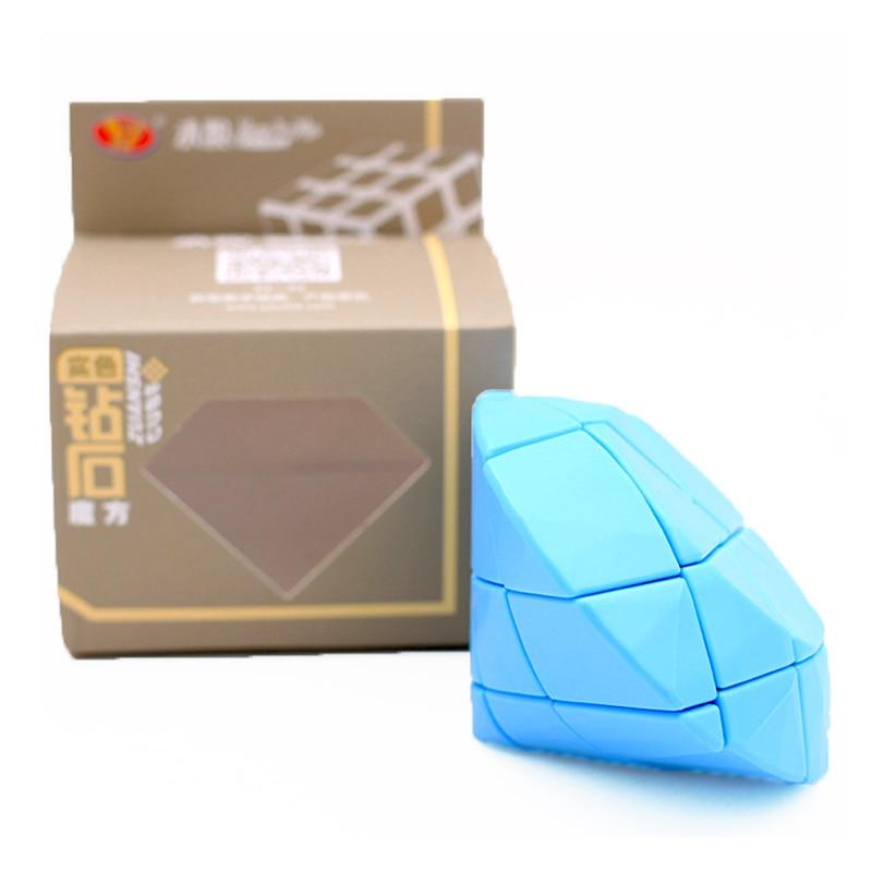 Yongjun YJ Diamand Strange Shape Cube Yellow Blue Diamand Speed Puzzle Toys For Children