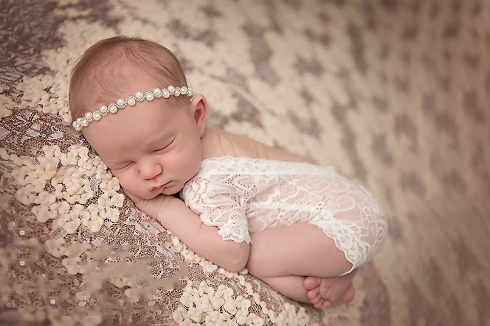 New 2017 Newborn Jewelry Crystal Headband Bling Pearl Rhinestone Headband Kids Girls Photography Props For Gift