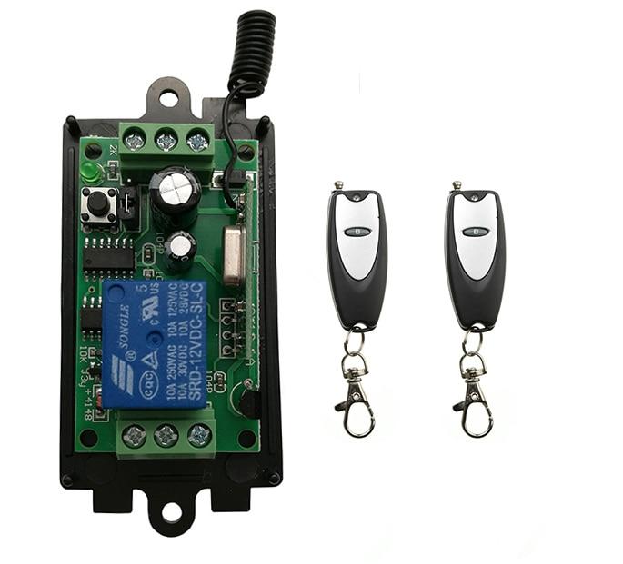 Dc 9v 12v 24v 1 Ch 1ch Rf Wireless Remote Control Relay