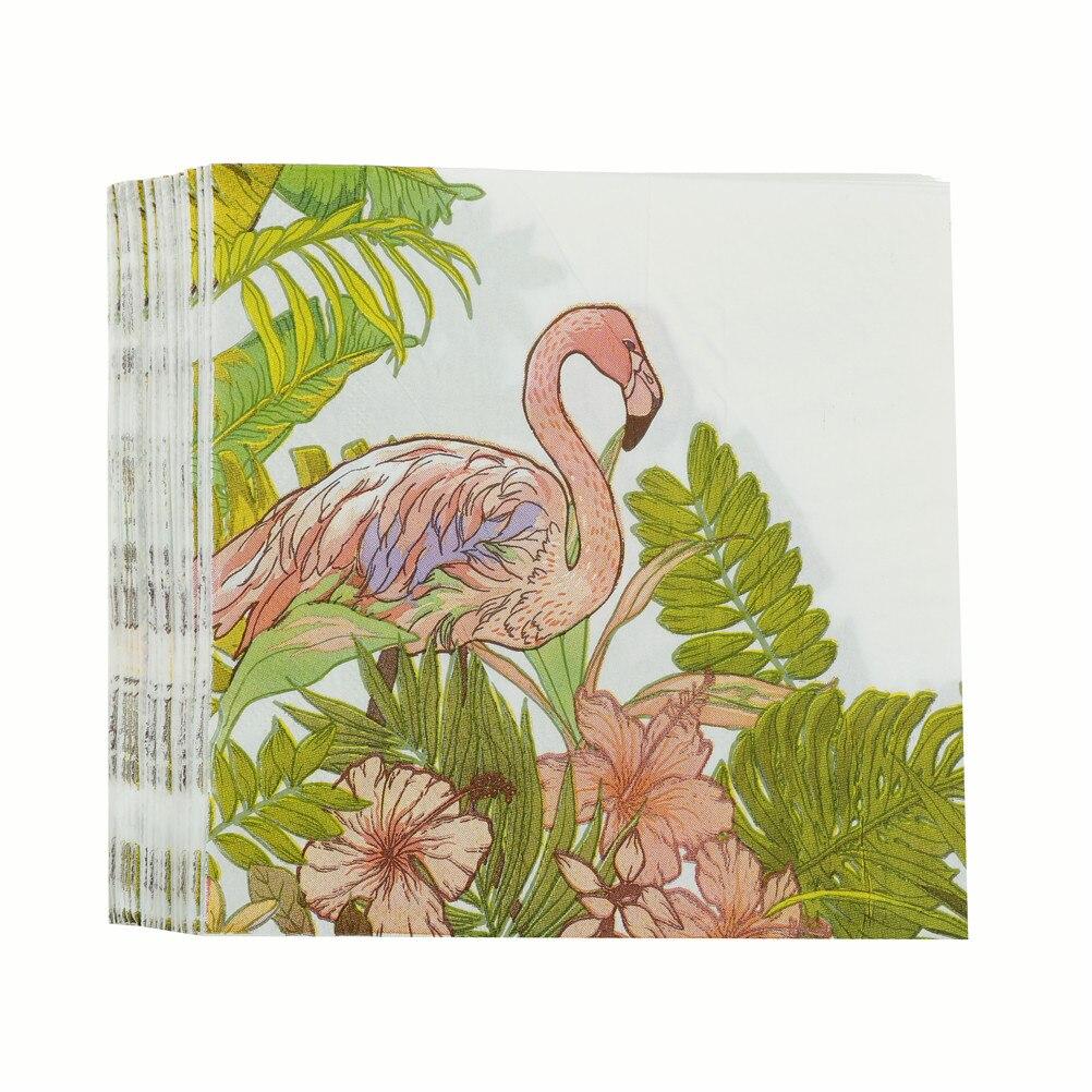 33*33 Cm Thee Koffie Handdoek Restaurant Platen Decor Herbruikbare Placemat Servetten Flamingo Printing Diner Servetten