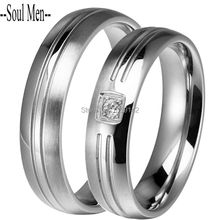 1 Pair Boys and Girls Forever Love Waterproof Rings Unique Titanium Steel Anniversary Sets Ring 5MM for Male & Female CZ Jewelry
