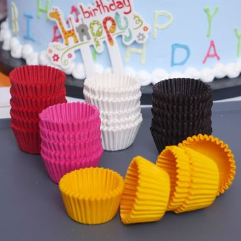1000PCS 25x21mm מיני צבעוני נייר עוגת Cupcake Liner אפיית מאפין תיבת כוס מקרה המפלגה מגש עוגה עובש לקשט כלים
