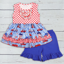 Wholesale Baby Girl Clothes Summer 4th of July Sleeveless To