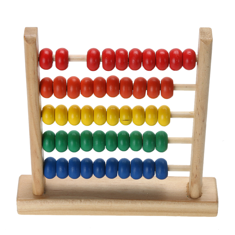 Math Toys For Kids : Small abacus educational toy for kids children s wooden