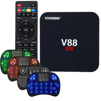 SCISHION V88 4K Android 5 1 Smart TV Box Rockchip 3229 1G 8G 4 USB 4K