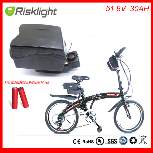 Free Customs taxes Rechargeable 51.8V/52V  30Ah 1000W  li ion electric bike battery for ebike battery frog case For Sanyo Cell free customs taxes super power 1000w 48v li ion battery pack with 30a bms 48v 15ah lithium battery pack for panasonic cell