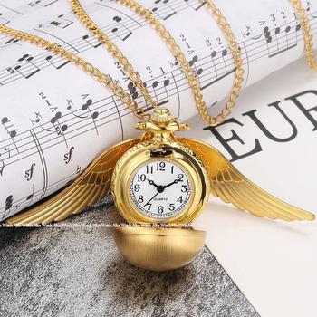 Antyczne Mini gładkie skrzydła brązowy srebrny znicz kieszonkowy zegarek naszyjnik łańcuszek wisiorek złoty zegarek kieszonkowy kwarcowy prezent Relogio tanie i dobre opinie Gorben QUARTZ STAINLESS STEEL ROUND ANALOG Mini Snitch Pocket Watch Stacjonarne Akrylowe Unisex Kieszonkowy zegarki kieszonkowe
