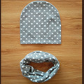 New baby star dot детские детские шапки шарф 2 шт. набор набор ребенка шляпу ребенка cap