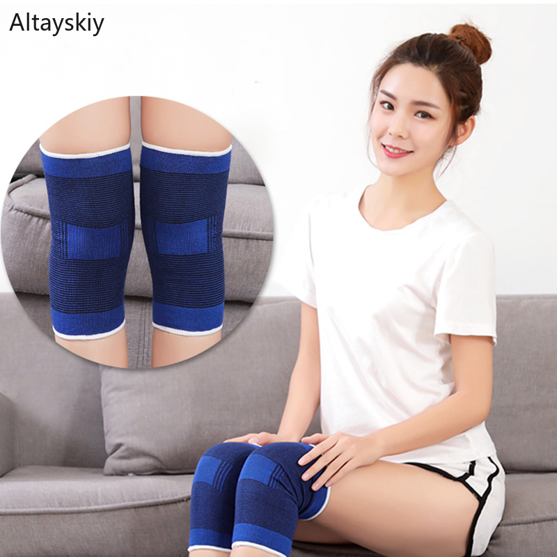 Knee Sleeve Women Simple Soft Solid Warm Thicker Sports Womens 2019 Breathable Comfortable Bodybuilding Cotton Chic All-match