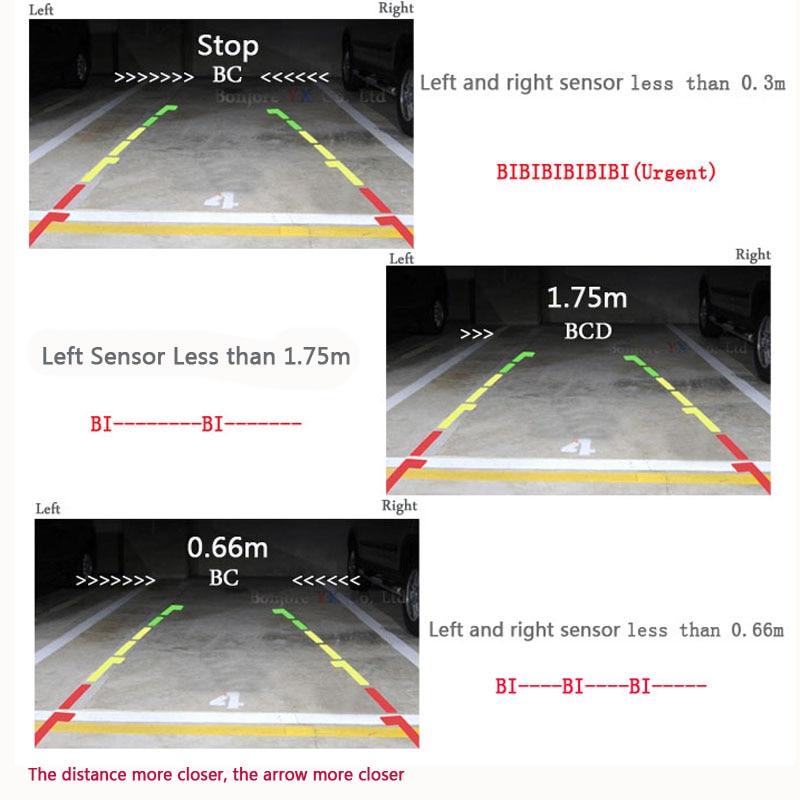 Koorinwoo UE Multimedia 1024 p HD 7 Monitor Dello Specchio di Bluetooth MP5 Video Macchina fotografica di retrovisione Parktronic Cicalino di Allarme sensori - 2