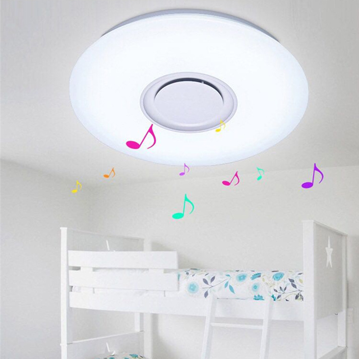 Bluetooth Ceiling Speaker Smart APP Control Loundspeaker Player With RGB Dimmable LED Ceiling Lights Panel Lamp For Kids Bedroom