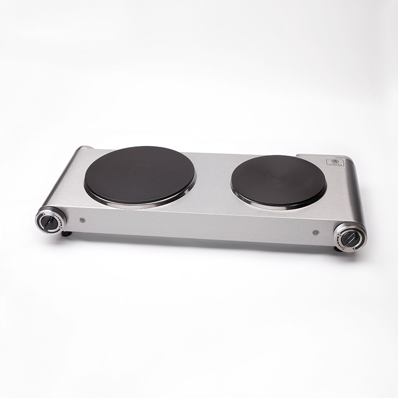 ФОТО The Best Double Hot Plate for Cooking Electric Stove 2 Burners Stainless Steel Two Hotplates 2500W,220-240V