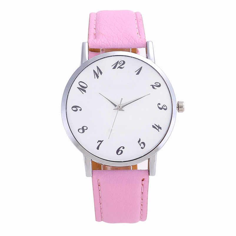 2019 haute qualité femmes montre décontractée à la mode de luxe robe belle mode Simple montre en cuir bande montre Reloj mujer J06 # N