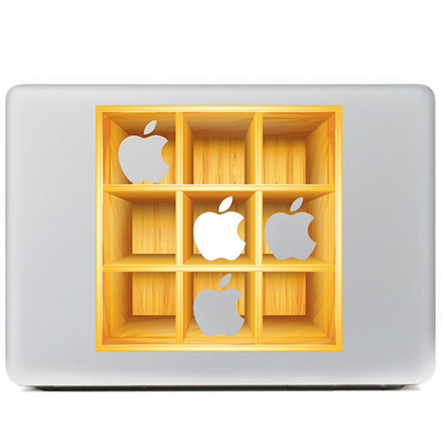 3D Style Wood Cupboard Cabinet Vinyl Decal Laptop Skins Case For ...