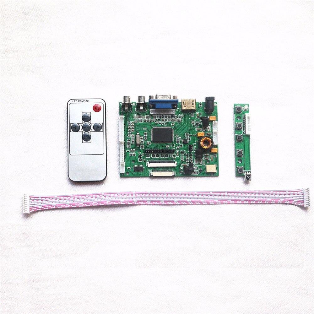 HDMI + VGA + 2AV + contrôleur Audio carte pilote VS-TY2668-V1 pour 7 pouces 1024x600 AT070TNA2 panneau LCD + télécommande