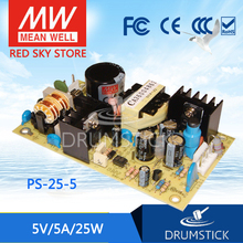 [VIII] Hot! MEAN WELL original PS-25-5 5V 5A meanwell PS-25 5V 25W Single Output Switching Power Supply original p42e101c power supply board ha02391 2 2391h 1ca0131 ps 80