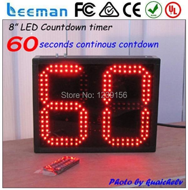 4775298b3 Leeman 2 dígitos del Temporizador de Cuenta Regresiva LED Relojes Digitales  LED rojo reloj Temporizador de Cuenta Atrás que muestran el número con el  CE 2 ...