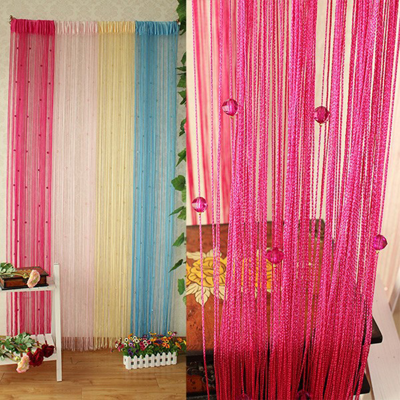 1x2m Garland Curtain Crystal Beads Curtains Silk Tassel