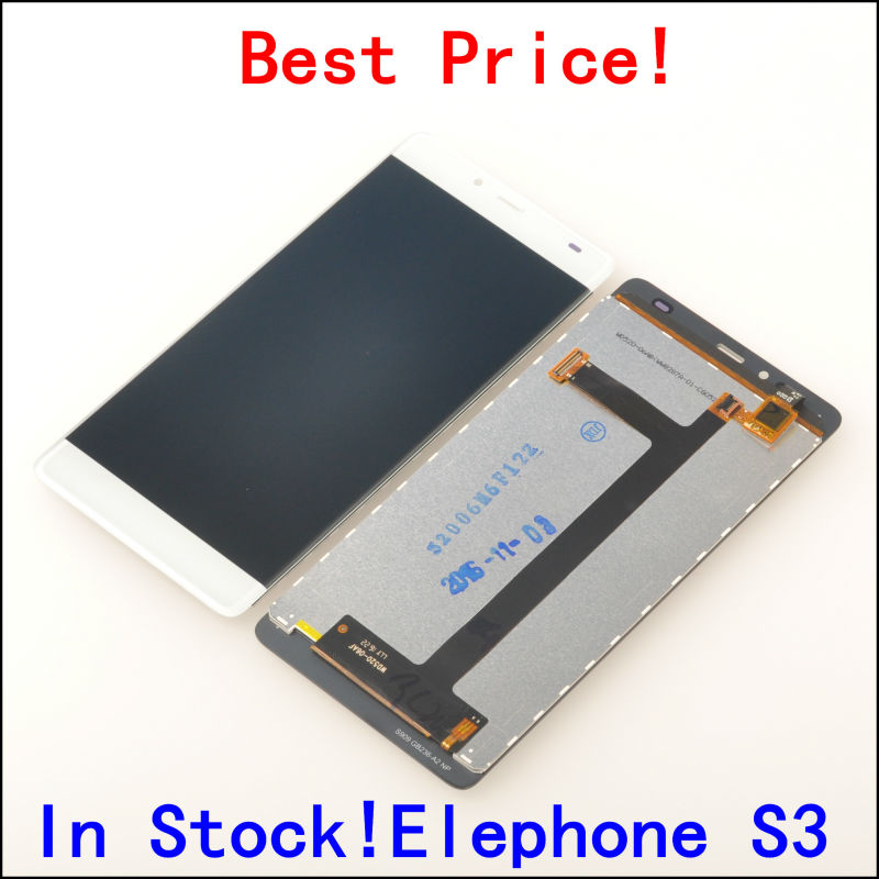 LCD Display Digitizer Touch Screen Assembly For Elephone S3 Cellphone 5 2 Black White color In