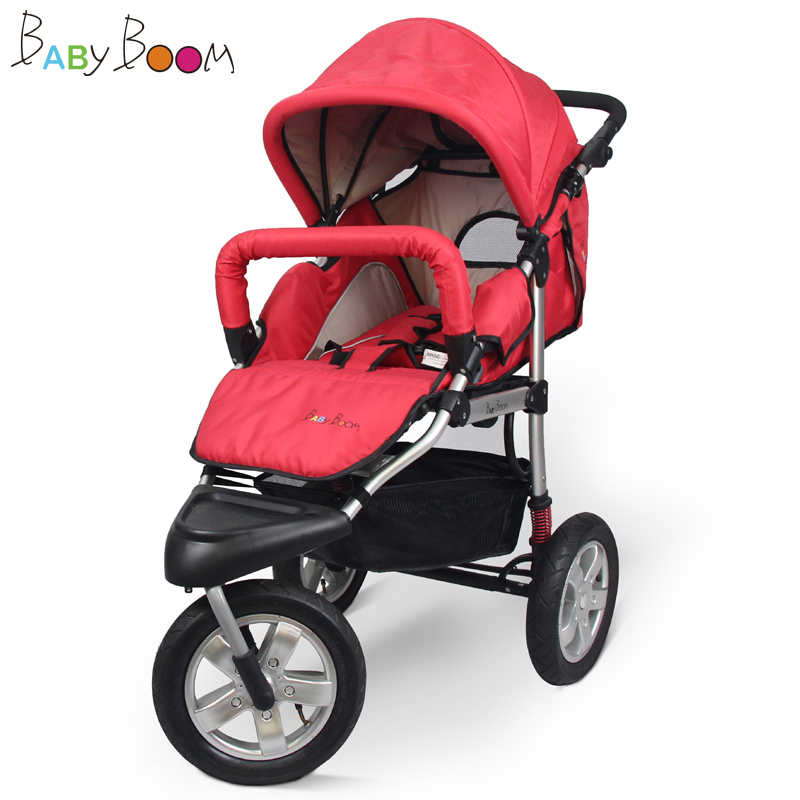 12inch air filled rubber wheel baby stroller, high landscape baby jogger, 31cm big wheel baby pram with aluminum alloy frame