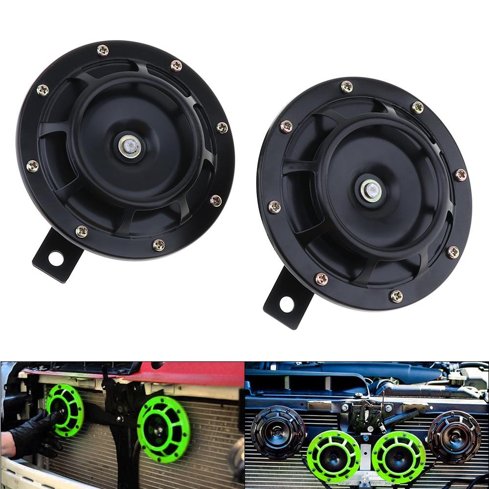 2pcs 12V Super Loud Grille Mount Trumpet Compact Electric Blast Dual Tone Horn for Car Auto Motorcycle