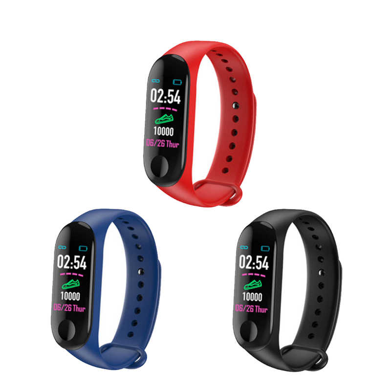 Smartband Фитнес трекер Браслет крови Давление монитор сердечного ритма Водонепроницаемый смарт-Браслет спортивный смарт-браслет новый