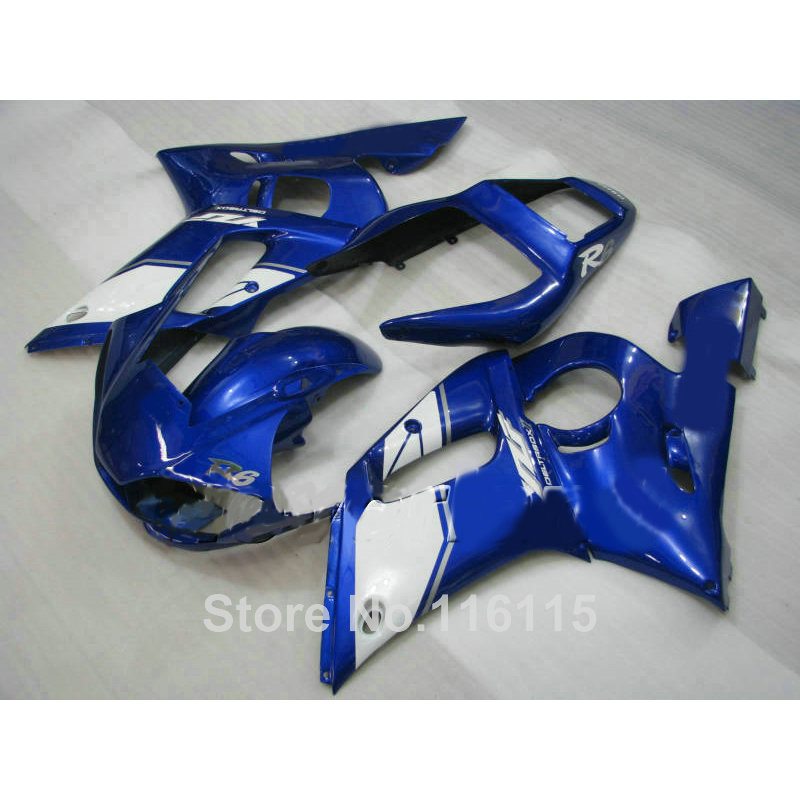 100% new fairing kit for YAMAHA R6 1998-2002 blue white YZF R6 plastic fairings set 98 99 00 01 02 NX37