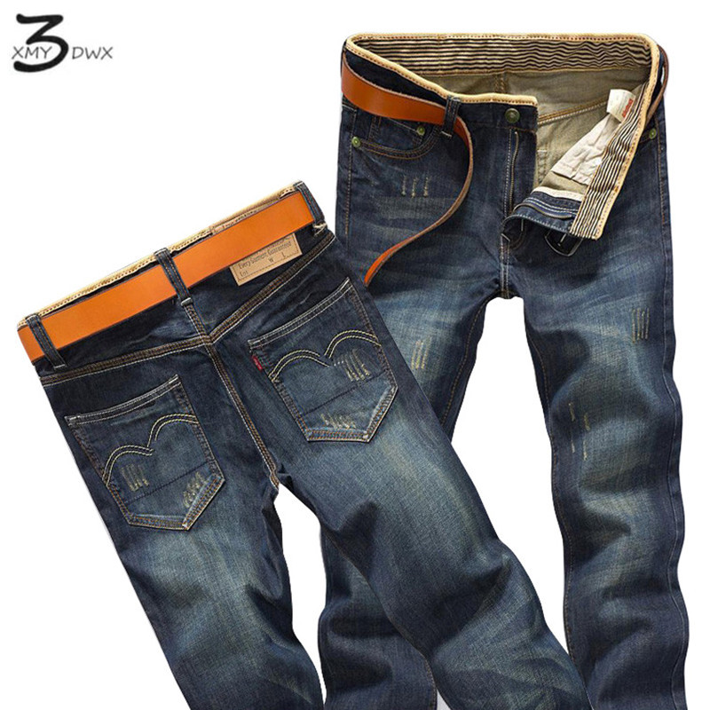 XMY3DWX Brand Men Jeans Size 28 to 38 Black Blue Stretch Denim Slim Fit Men Jean for Man Pants Trousers Jeans/Slim jeans fashion xmy3dwx n ew blue jeans men straight denim jeans trousers plus size 28 38 high quality cotton brand male leisure jean pants