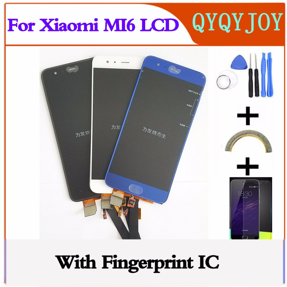 Per Xiao mi mi 6 display lcd + TOUCH screen Digitizer Assembly 1920X1080 fhd 5.15