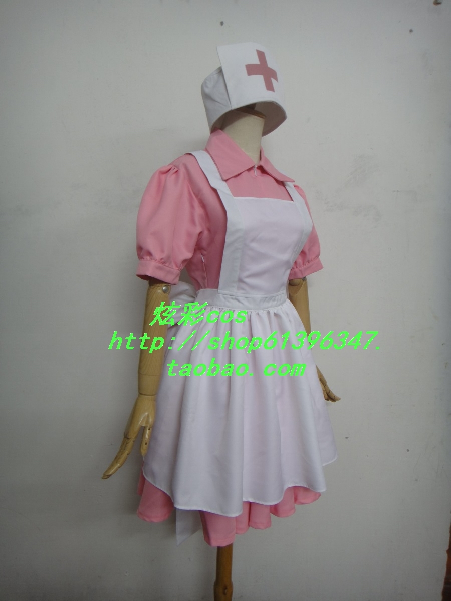 Pokemon Pocket Monsters Perawat Joy Cosplay Costume Dress + apron + - Kostum - Foto 4