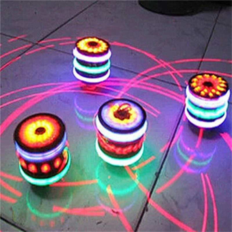 2018 New Colorful Luminous Music Flash Toys Gyroscope LED Gyroscope LED Toys Finger Spinner Fingertips Hand Spinner For Child