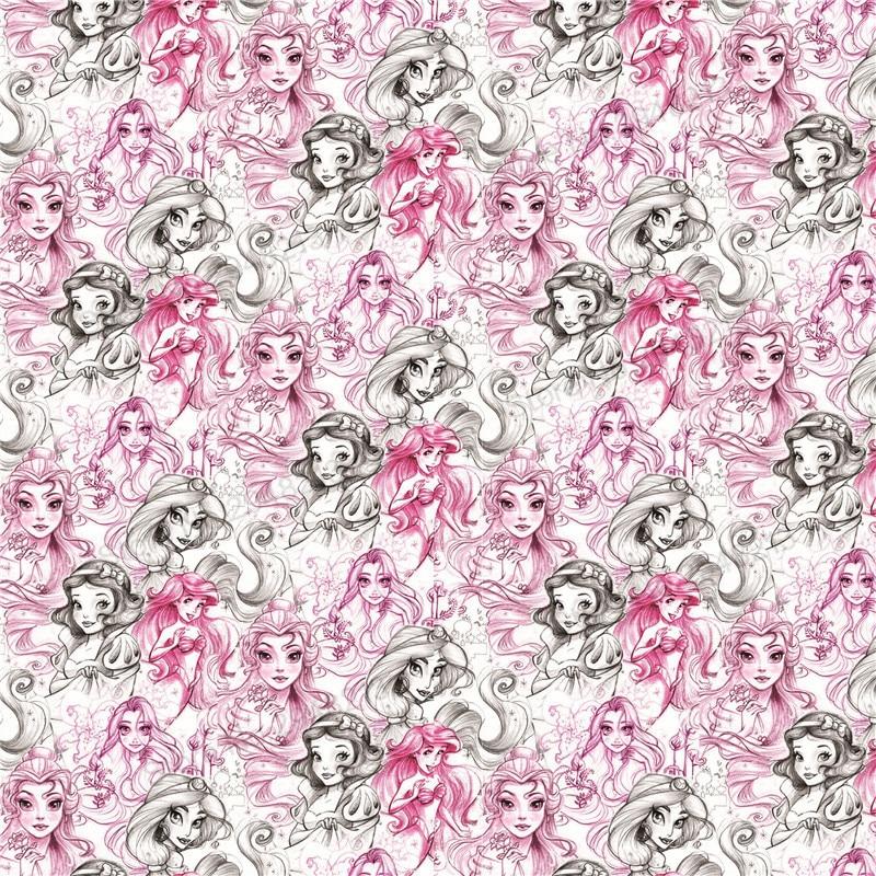 10 шт./лот мультфильм печатных принцесса Кожезаменитель ткань Vinly для волос лук сумки 20*34 см PPUL12