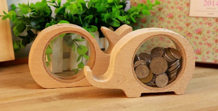 New Creative Cute Wooden Piggy Bank Animal Home Furnishing Articles Gifts In Money Boxes From Garden On
