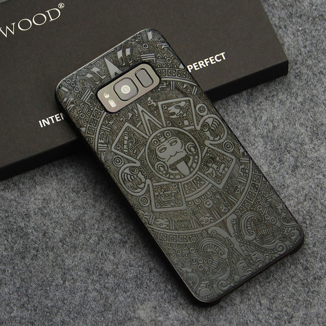 Wooden Phone Case For Samsung Galaxy S8/S8 Plus with PC Protective Layer
