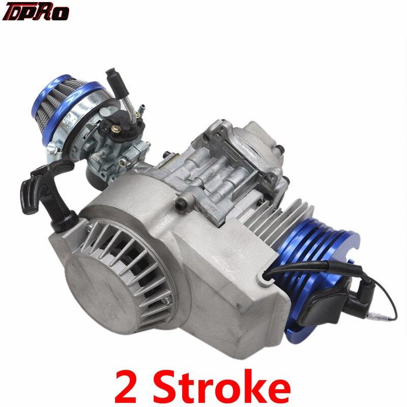 TDPRO Racing 47cc 49cc 50cc Mini 2 temps moteur avec carburateur moteur ATV Dirt Pitbike poche vélo Minimoto Scooter