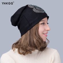 2016  Beanie Stacking diamond Knitted Hat Slouch Hip Hop Casual Autumn Winter Caps